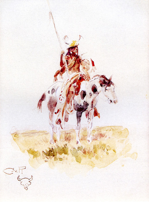 Art Prints of Blackfoot Scout by Charles Marion Russell