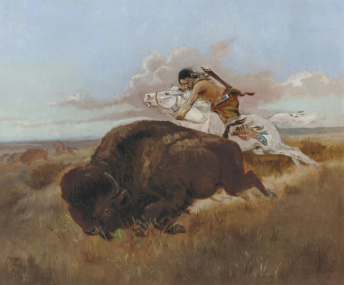 Art Prints of Buffalo Hunt by Charles Marion Russell