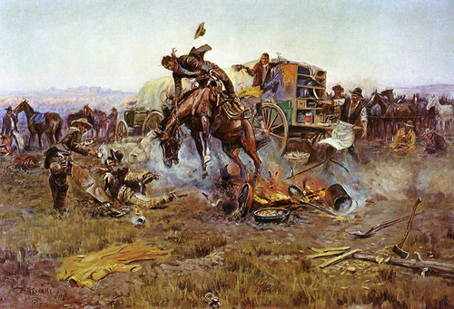 Art Prints of Camp Cook's Troubles by Charles Marion Russell