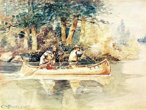 Art Prints of Caught Napping by Charles Marion Russell