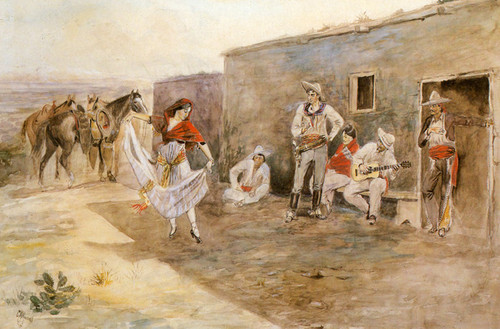 Art Prints of Casa Alegre, 1899 by Charles Marion Russell