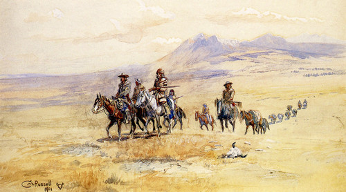 Art Prints of Coming Across the Plain by Charles Marion Russell