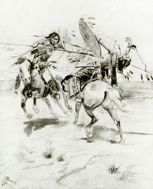 Art Prints of Duel to the Death by Charles Marion Russell