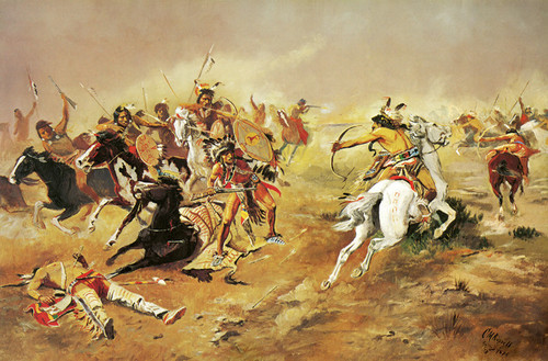 Art Prints of For Supremacy by Charles Marion Russell