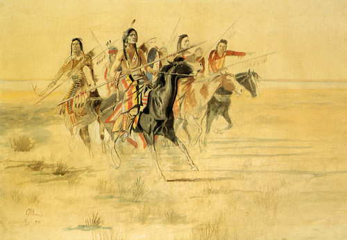 Art Prints of Indian Hunt by Charles Marion Russell