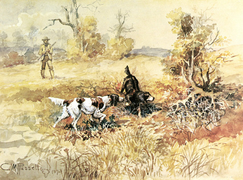 Art Prints of Huntsman and Dogs by Charles Marion Russell
