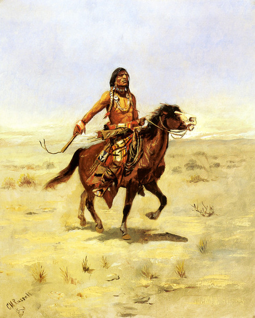 Art Prints of Indian Rider by Charles Marion Russell