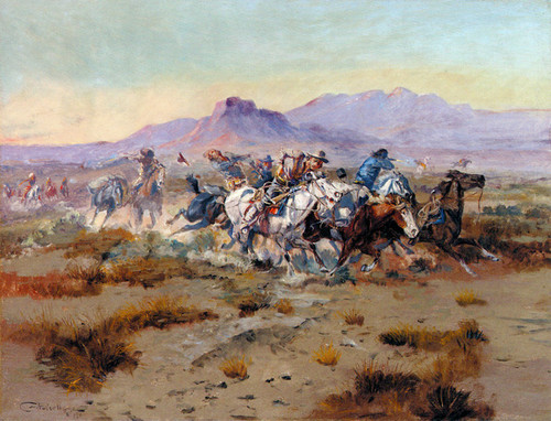 Art Prints of Indian Scouting Party, II by Charles Marion Russell