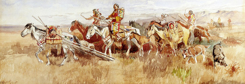 Art Prints of Indians on the Prairie by Charles Marion Russell