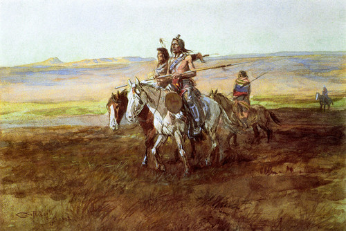 Art Prints of Indians Crossing the Plains by Charles Marion Russell