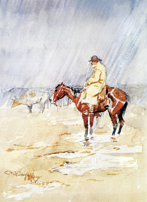 Art Prints of Just a Little Rain by Charles Marion Russell
