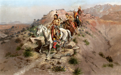 Art Prints of On the Warpath by Charles Marion Russell