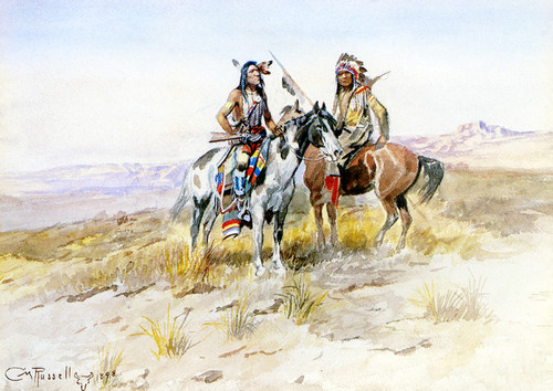 Art Prints of On the Prowl by Charles Marion Russell