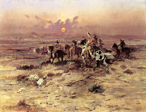 Art Prints of Stolen Horses by Charles Marion Russell