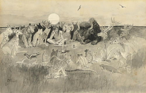 Art Prints of Great Game for the Rulership of the World by Charles Marion Russell