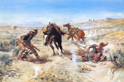 Art Prints of The Cinch Ring by Charles Marion Russell