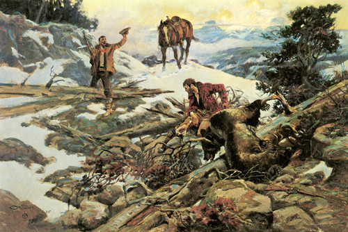 Art Prints of The Price of His Hide by Charles Marion Russell