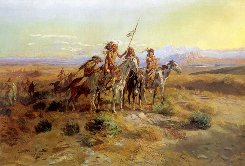 Art Prints of The Scouts by Charles Marion Russell
