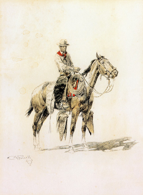 Art Prints of The Texas Cowboy by Charles Marion Russell