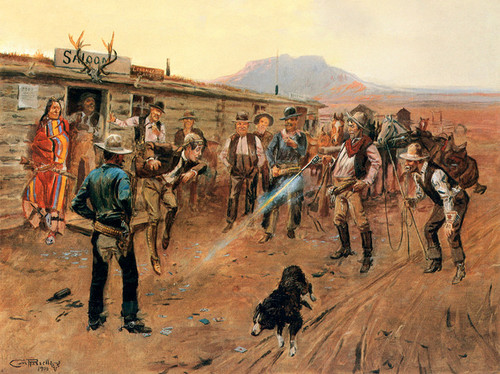 Art Prints of The Tenderfoot, 1900 by Charles Marion Russell