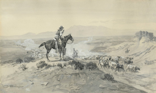 Art Prints of Trail Boss by Charles Marion Russell