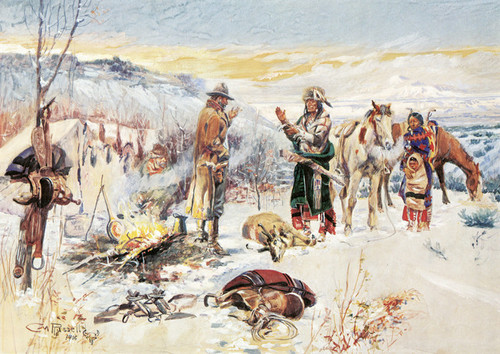 Art Prints of The Wolfer's Camp by Charles Marion Russell