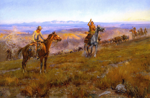 Art Prints of Toll Collectors by Charles Marion Russell