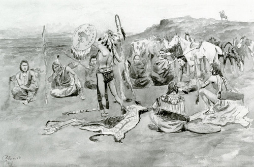 Art Prints of War Council by Charles Marion Russell