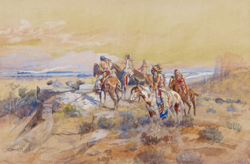 Art Prints of Watching the Iron Horse by Charles Marion Russell