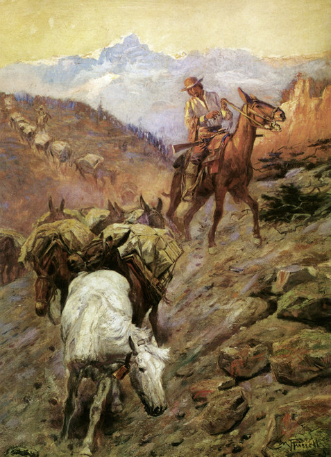 Art Prints of Where Mules Wore Diamonds by Charles Marion Russell