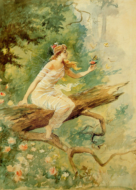 Art Prints of Wood Nymph by Charles Marion Russell