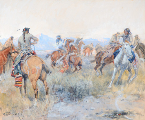 Art Prints of Cochrane Shot the Indian by Charles Marion Russell