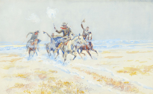 Art Prints of Cowboys on the Plains by Charles Marion Russell