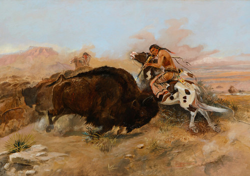 Art Prints of Meat for the Tribe by Charles Marion Russell