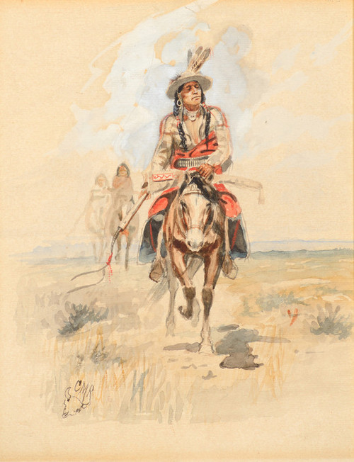 Art Prints of Indians Crossing the Plains II by Charles Marion Russell