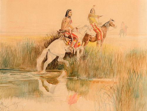 Art Prints of Piegan Hunting Party by Charles Marion Russell