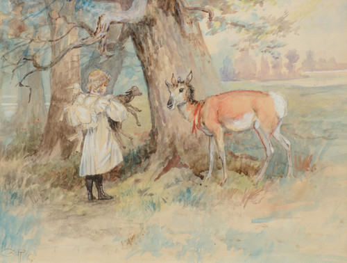 Art Prints of Prairie Children by Charles Marion Russell