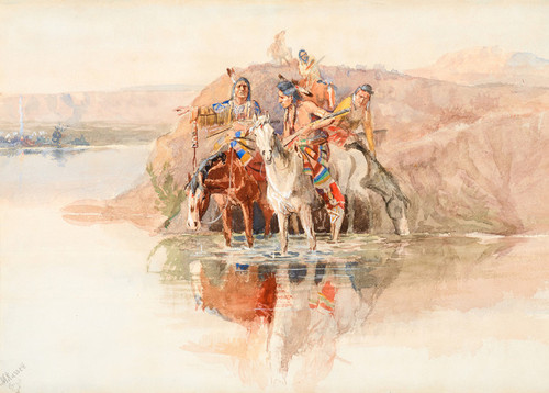 Art Prints of Scouting the Camp by Charles Marion Russell