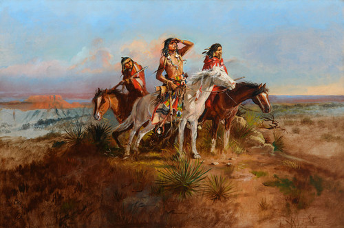 Art Prints of The Scouting Party by Charles Marion Russell