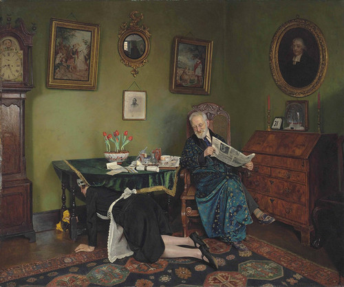 Art Prints of She Stoops to Conquer by Charles Spencelayh