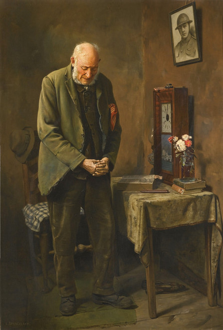 Art Prints of Two Minute Silence by Charles Spencelayh