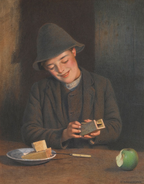 Art Prints of Two Bites by Charles Spencelayh