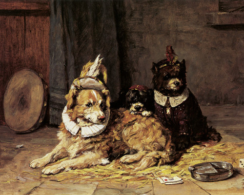 Art Prints of Circus Dogs by Charles Van den Eycken