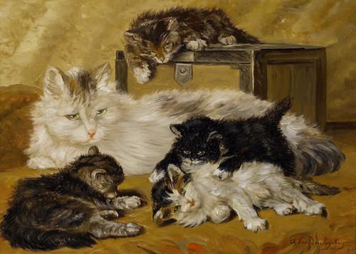Art Prints of Under Mother's Watch by Charles Van den Eycken