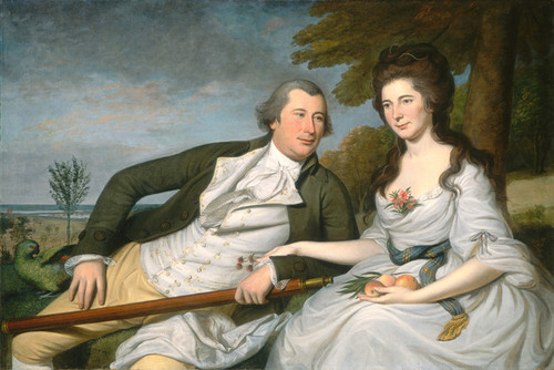 Art Prints of Benjamin and Eleanor Ridgely Laming by Charles Willson Peale