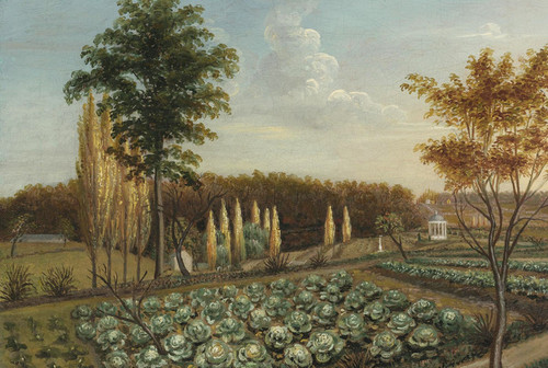 Art Prints of Cabbage Patch, the Gardens of Belfield, Pa by Charles Willson Peale