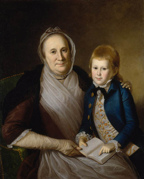 Art Prints of Mrs. James Smith and Grandson by Charles Willson Peale