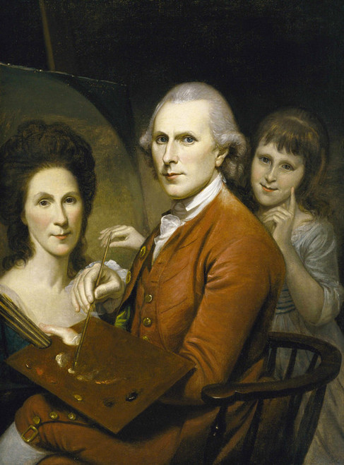 Art Prints of Self Portrait with Angelica by Charles Willson Peale