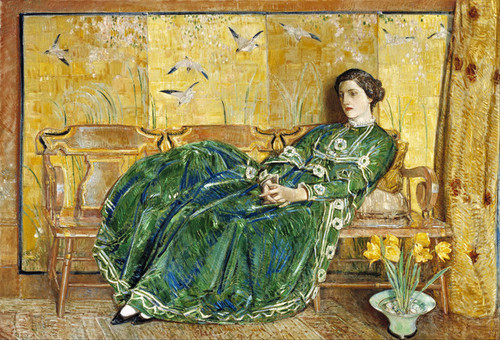 Art Prints of April (The Green Gown) by Childe Hassam