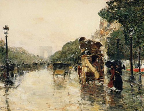 Art Prints of Champs Elysees by Childe Hassam